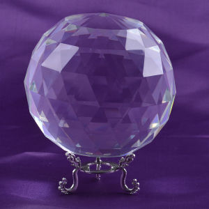 Facet Crystal Ball, Glass Faceted Ball Sphere pictures & photos