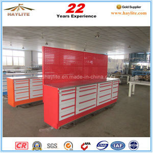 20 Drawer Steel Tool Cabinet Workbench with Wooden Top pictures & photos