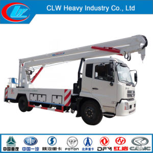 High Quality Dongfeng 4X2 Hydraulic Aerial Cage Truck pictures & photos