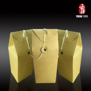 Yellow Kraft Paper Bag with Japanese Closure pictures & photos
