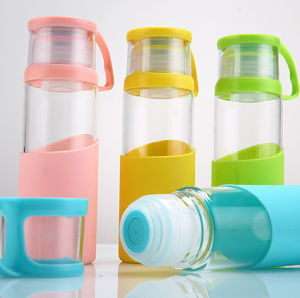 420ml Glass Drinking Bottle with Creative Lid (DC-QDG-6-420) pictures & photos