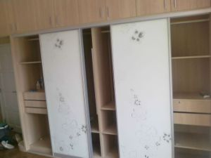 MDF Cabinet Door with Melamine Surface Sliding Wardrobes pictures & photos