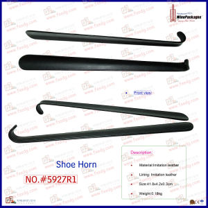 High Quality Wholesale Faux Leather Custom Long Shoehorn (5927R1) pictures & photos