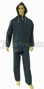 Good Quality Polyester Waterproof Safety Rain Suit pictures & photos
