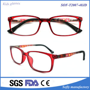 High-End Children′s Glasses Red Frames Soft Myopic Tr90 Optical Frame pictures & photos
