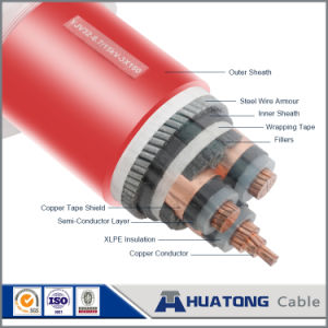Multi-Core Copper Conductor XLPE Insulated Steel Wire /Tape Armored Electric Cable with Reliable Quality pictures & photos