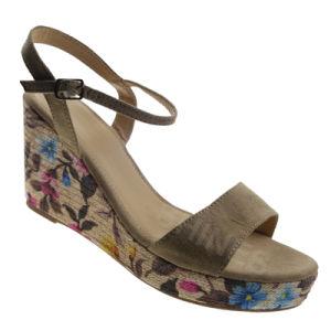 Camel Hemp Rope High Heel Fashion Sandal for Women