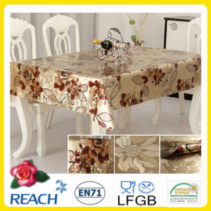 PVC Golden and Emboss Table Overlay Factory pictures & photos