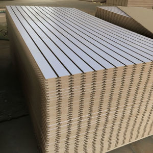 Slot MDF/Melamine MDF pictures & photos