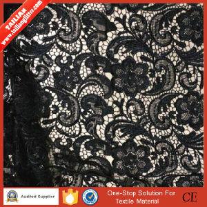 2016 Tailian Wholesale New Design Black Lace Fabric Garment pictures & photos
