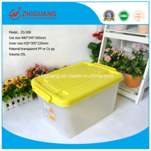Top Quality 35L Plastic Storage Box Household Toys Clothes Food Package Box Stackable Plastic Storage Containers with Wheels pictures & photos