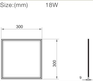 China Low Glare Energy Saving 2835 SMD Square Panel LED 18W with Ce RoHS ERP pictures & photos