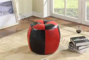 PVC Leather Modern Fashion Red Black Ottaman