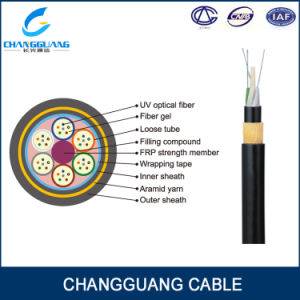 ADSS Single Mode Aramid Yarn Overhead Fiber Optical Cable 1km Price pictures & photos