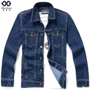 Men Short Demin Jacket Ready Made Fashion Overcoat