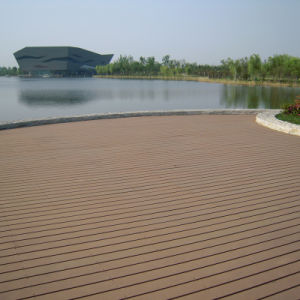 Wood Plastic Composite Hollow WPC Decking Board (M165) pictures & photos