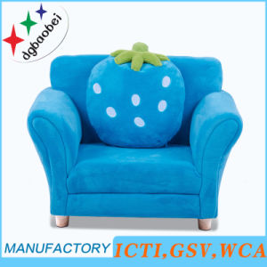 Strawberry Single Fabric Sofa/Chair/Baby Furniture with Pillow (SXBB-303) pictures & photos