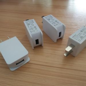 White 5V 1A USB Charger Adapter with Micro USB Cable pictures & photos