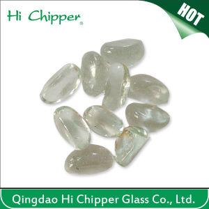 Clear Cashew Shape Fire Pit Glass Gem Stone pictures & photos