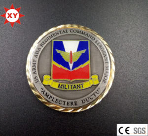 Custom Challenge Coin with Gold Plated pictures & photos