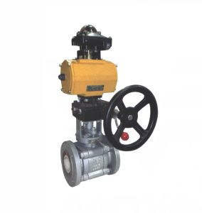 Pneumatic Ceramic Floating Ball Valve with Override (GQS641TC) pictures & photos