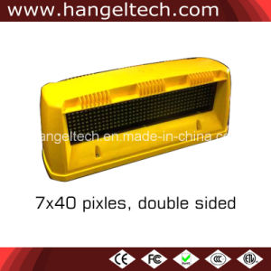7X40 Pixels Programmable LED Taxi Top Light Sign