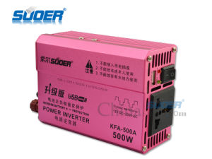 Suoer External Fuse Solar Power Inverter 500W DC 12V to AC 230V Inverter (KFA-500A) pictures & photos