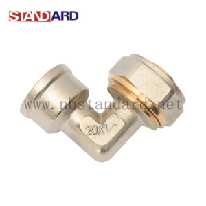Brass Compress Fitting with Female Thread Elbow pictures & photos