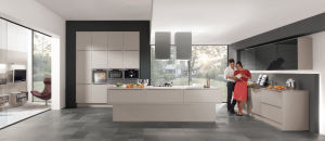 Best Sale New Design High Quality Cheap Kitchen Cabinets with High Gloss Door (light grey color) pictures & photos
