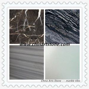 Chinese White/ Black/ Beige Marble Floor Tile pictures & photos