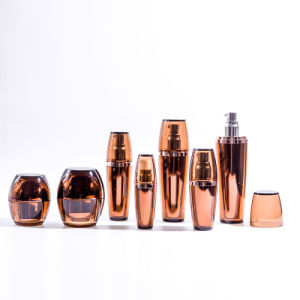 Hot Sale Amber Acrylic Lotion Bottles with Jars (EF-C02) pictures & photos