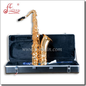 High F# Eb Key Golden Lacquer Finish Musical Instrument Alto Saxophone (SP1011G) pictures & photos