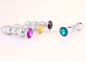 Screw Cycastal Flowering Metal Pull a Pearl Backyard Anal Plug pictures & photos