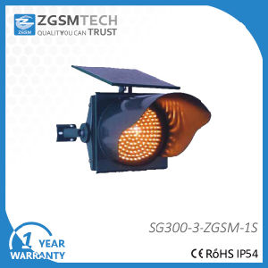 LED Solar Traffic Warning Flashing Light