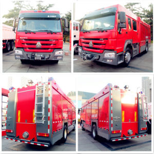 Good Quality Sinotruk HOWO Fire Truck Volume 5cbm-10m3, Fire Fighting Truck with Fire Extinguisher, Water Carrier Fire Truck pictures & photos