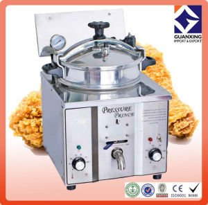 Counter Top Gas Chicken Pressure Fryers for Sale/ Small Size Counter-Top Style Electric /16L Henny Penny Electric Pressure Fryer Ce/Chicken Pressure Fryer pictures & photos