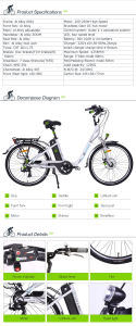 Fashion 250W High Speed Brushless Motor Electric Urban Bike pictures & photos