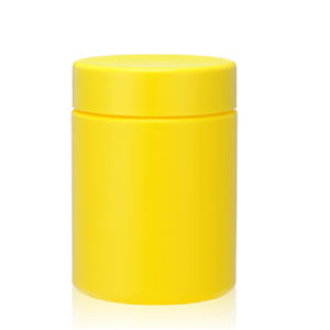 Yellow UV Glossy Protien Powder Plastic Bottle pictures & photos