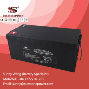 Sealed Lead Acid AGM Deep Cycle 12V Battery 200ah for Solar Power System pictures & photos