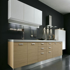 Melamine MDF Kitchen Cabinet (K-M012) pictures & photos