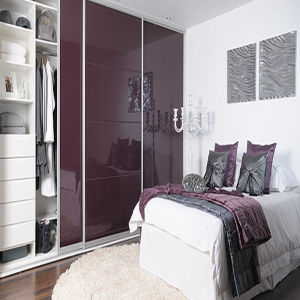 High Glossy Bedroom Wardrobe (ZH-068) pictures & photos
