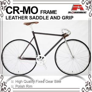 700c Cr-Mo Frame Leather Saddle Fixed Gear Bike (KB-700C14) pictures & photos