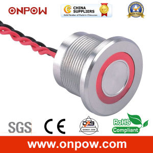 Onpow Piezoelectric Switch with Light (PS223P10YSS1R12T, CCC, CE) pictures & photos