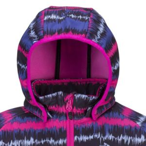 Children Wear Kid′s Printed Hooded Softshell Jacket pictures & photos