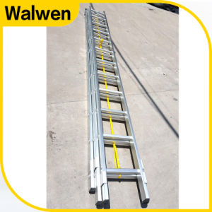 3 Section Aluminum Telescopic Firefighting Ladder with GS Approval pictures & photos