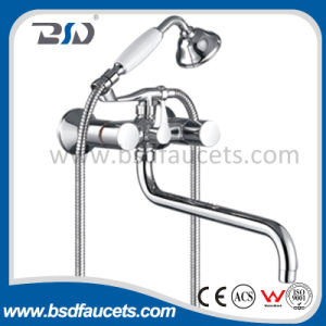 Brass Body Brass Handle Heavy Kitchen Water Faucet pictures & photos