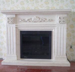 Luxury Carving Marble Fireplace Mantels for Home Decoration pictures & photos