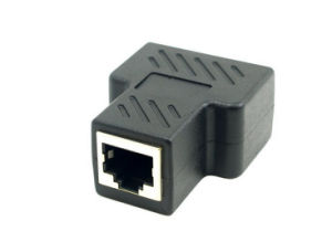 CAT6 RJ45 8p8c Plug to Dual RJ45 Splitter Network Ethernet Patch Cord Adapter with Shield pictures & photos