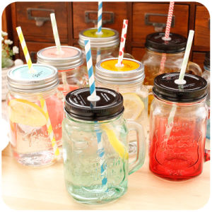400ml Various Color Glassware Mason Jar pictures & photos