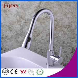 Fyeer Pull out Kitchen Sink Faucet with Head Button pictures & photos